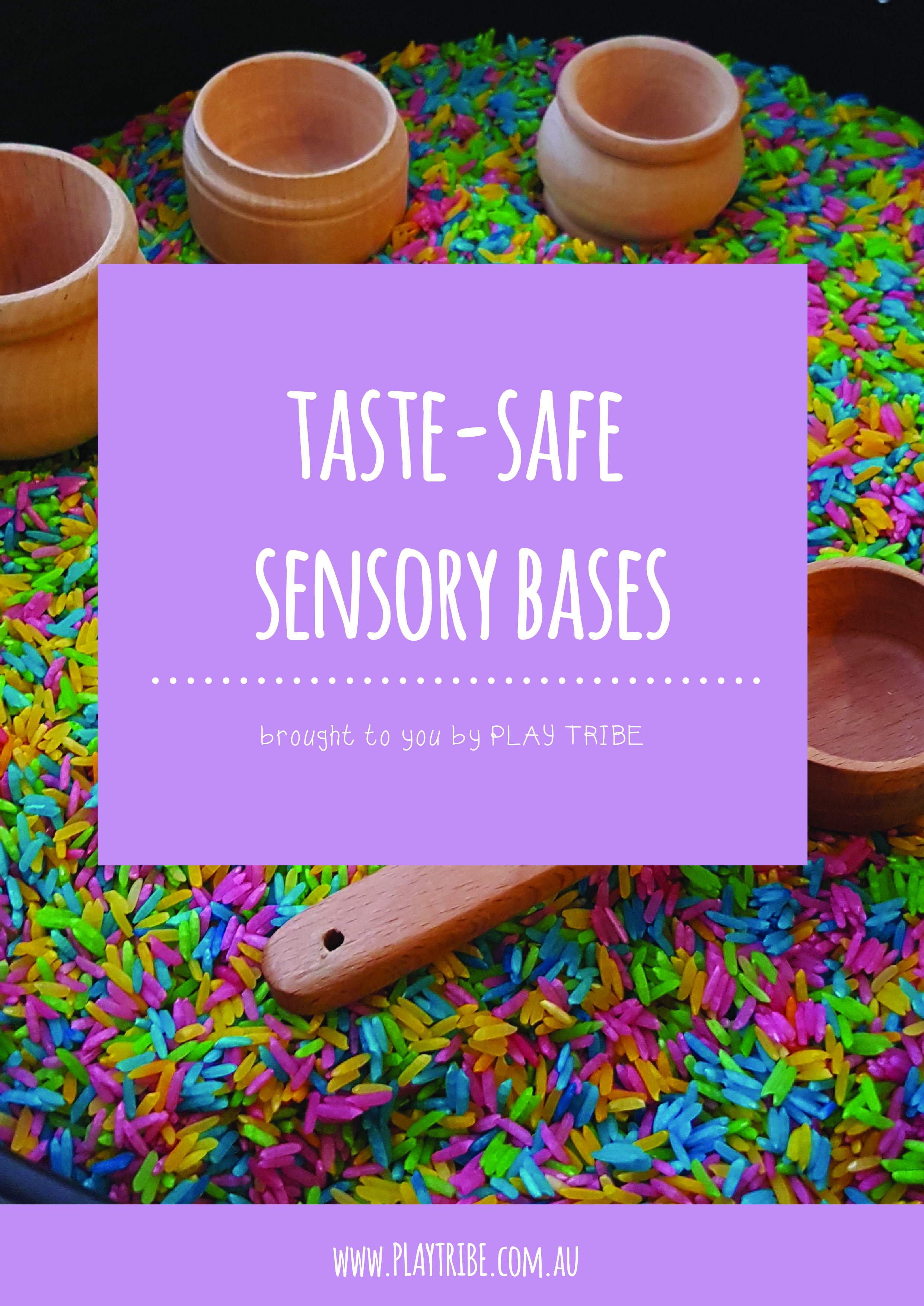 Free eBook all about taste-safe sensory bases. Perfect for your baby who is in the mouthing stage and a great safe alternative for your toddler. Includes sensory activities as well!