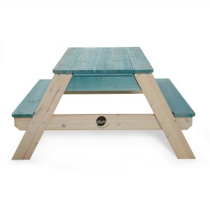 The Plum Surfside table has a wet and dry sensory play area. Great for outdoor adventures
