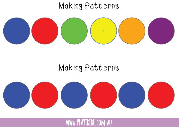 Make patterns and match colours with this free printable from PLAY TRIBE