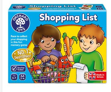 Shopping list game is a wonderful little game to play with your pre-schooler. Teaching them turn taking, and game skills.