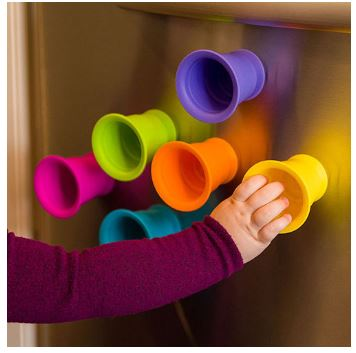 These cups, stack, suction and build! A great gift idea for the little one in your life